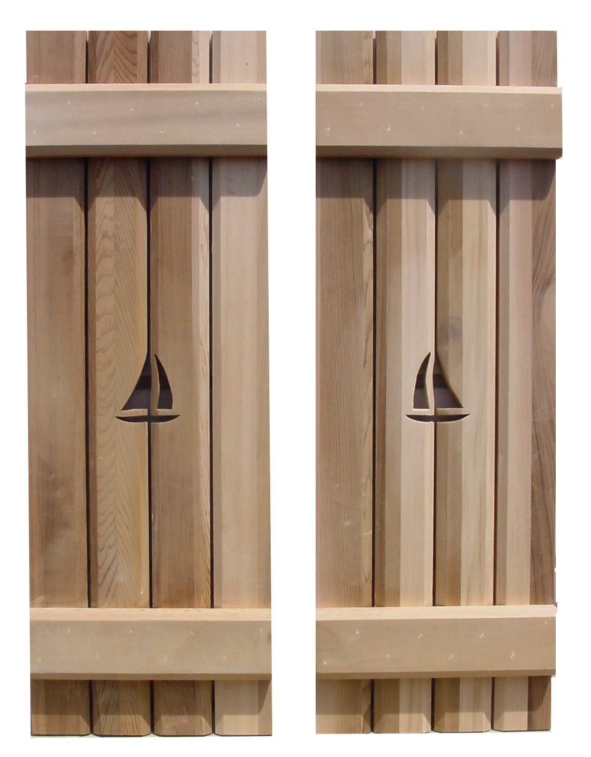 Unfinished Interior Wood Shutters