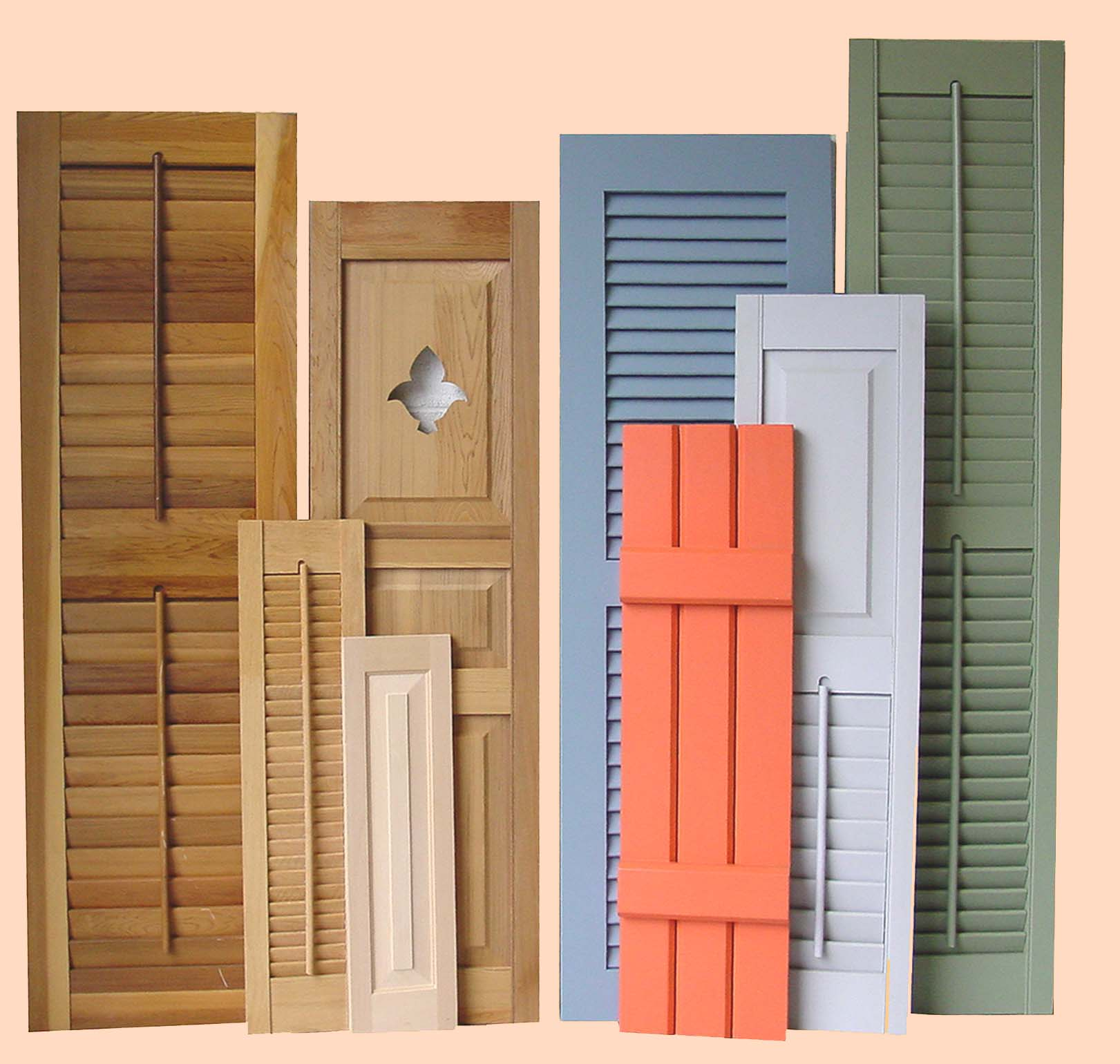 Wooden window shutters exterior for Window shutters